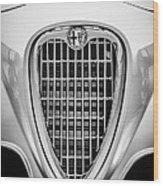 1955 Alfa Romeo 1900 Css Ghia Aigle Cabriolet Grille Emblem -0564bw Wood Print