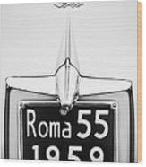 1955 Alfa Romeo 1900 Css Ghia Aigle Cabriolet Grille Emblem - Super Sprint Emblem -0601bw Wood Print