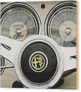 1955 Alfa-romeo 1900 Css Ghia Aigle Cabriolet Steering Wheel -2254 Wood Print