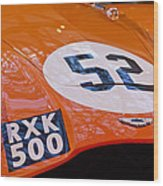 1955 Aston Martin Db3s Sports Racing Car Hood 2 Wood Print