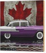 1955 Bel Air Patriot Wood Print