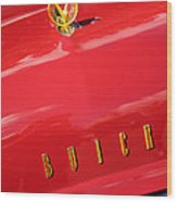 1955 Buick Roadmaster Hood Ornament - Emblem Wood Print