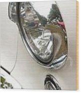 1955 Buick Special Headlight Wood Print