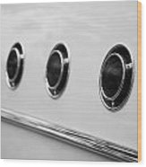 1955 Buick Special Side Air Vents Wood Print