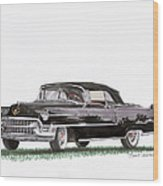 1955 Cadillac Series 62 Convertible Wood Print