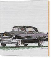 1955 Cadillac Series 62 Convertible Wood Print