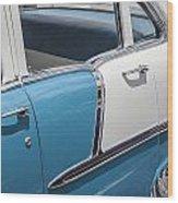 1955 Chevrolet 4 Door Wood Print
