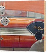 1955 Chevrolet Belair Dashboard Wood Print
