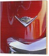 1955 Chevrolet Belair Nomad Emblem Wood Print