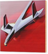 1955 Chevrolet Belair Nomad Hood Ornament Wood Print