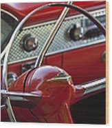 1955 Chevrolet Belair Nomad Steering Wheel Wood Print