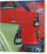 1955 Chevrolet Belair Nomad Taillights Wood Print