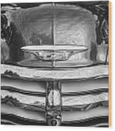 1955 Chevrolet First Series Bw Wood Print