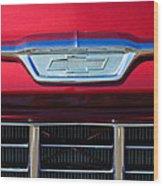 1955 Chevrolet Pickup Truck Grille Emblem Wood Print