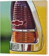 1955 Chevrolet Taillight Emblem Wood Print