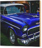 1955 Chevy Bel Air Wood Print by David Patterson