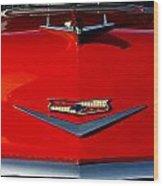 1955 Chevy Bel Air Hood Ornament Wood Print
