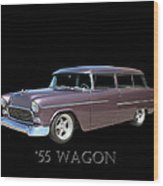 1955 Chevy Handyman Wagon Wood Print