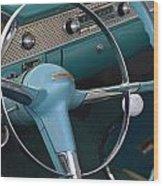 1955 Chevy Nomad Steering Wheel Wood Print