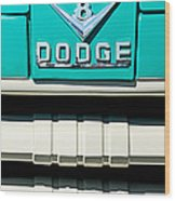 1955 Dodge C-3-b8 Pickup Truck Grille Emblem Wood Print by Jill Reger