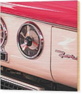 1955 Ford Crown Victoria Fordomatic Emblem Wood Print
