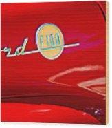 1955 Ford F-100 Pickup Truck Side Emblem -3515c Wood Print
