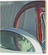 1955 Ford Thunderbird Steering Wheel Wood Print