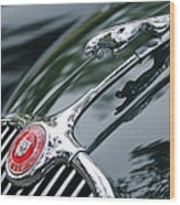 Jaguar Xk 150 Hood Ornament  Wood Print