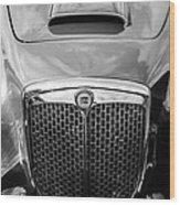 1955 Lancia Aurelia B24 Spyder America Roadster Grille -0278bw Wood Print