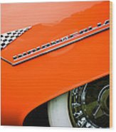 1955 Lincoln Indianapolis Boano Coupe Emblem -0295c Wood Print