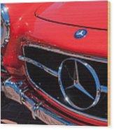 1955 Mercedes-benz 300sl Gullwing Grille Emblems Wood Print