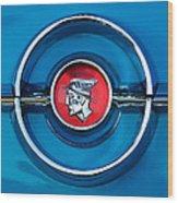 1955 Mercury Monterey  Emblem Wood Print
