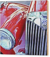 1955 Mg Tf 1500 Grille Wood Print