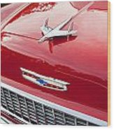 1955 Red Chevy Wood Print