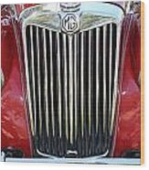 1955 Red Mg Grille Wood Print