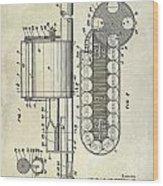 1955 Rocket Launcher Patent Drawing Wood Print