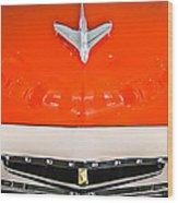 1955 Studebaker Champion Conestoga Custom Wagon Hood Ornament - Grille Emblem -0325c Wood Print