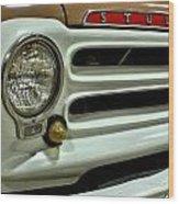 1955 Studebaker Headlight Grill Wood Print