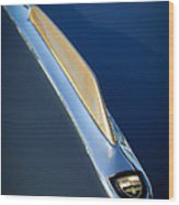 1955 Studebaker President Hood Emblem Wood Print by Jill Reger