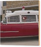 1955 Superior Cadillac Passenger Ambulance Wood Print