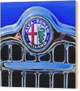 1956 Alfa Romeo Sprint Veloce Coupe Ultra Light Grille Emblem Wood Print