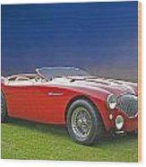 1956 Austin Healey 100m Wood Print
