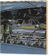 1956 Austin Healey Engine Wood Print