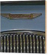 1956 Austin-healey Grill Hood Ornament Wood Print