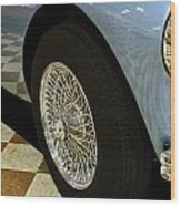 1956 Austin Healey Wheel Wood Print