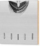 1956 Buick Special Hood Ornament - Emblem Wood Print