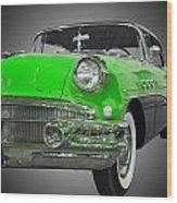 1956 Buick Special Riviera Coupe-green Wood Print