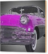 1956 Buick Special Riviera Coupe-purple Wood Print