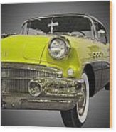 1956 Buick Special Riviera Coupe-yellow Wood Print