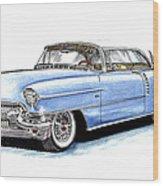 1956 Cadillac Coupe De Ville Wood Print